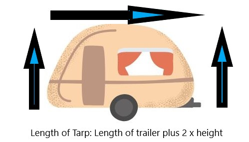 how to tarp a trailer for winter